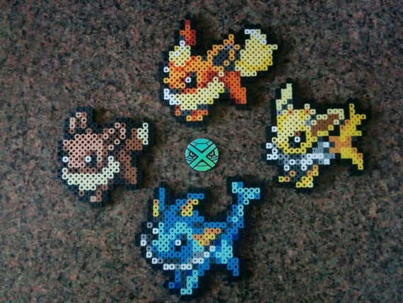 pokemon xy eevee evolution sprites perler beads select a