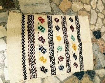Bohemian Entry Kilim Rugs,Floor Covering Wool Kilim,Small Entry Rug,Embroidered  Small