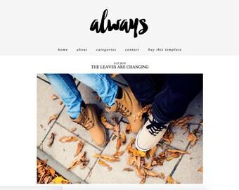 SALE *** Always || Responsive Blogger Template, Drop Down Menu, Premade Blogger Template, One Column