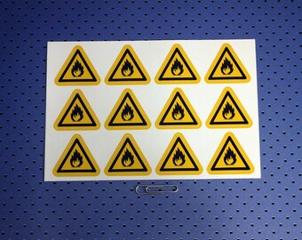 Flammable Warning Labels - Sticker Sheet