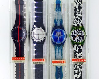 Swatch swiss Art 700 years Confoederatio Helvetica 4pcs GZ117 GZ118 GZ119 GZ120 new unused in original box with papers