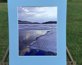 """Matted Photograph Print """"Schroon Lake"""" 8x10 Print in 11x14 Mat"""