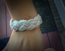 Sailor Knot Bracelet, nautical rope bracelet, hipster bracelet, woven bracelet, nautical knot bracelet, braided bracelet