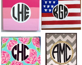 Custom Personalized Monogram Canvas Painting Dorm Decoration