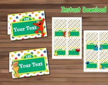 Sesame street Food Tent Cards - PDF - Instant Download