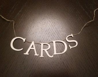 Cards Banner- Wedding, Baby Shower, Bridal Shower...