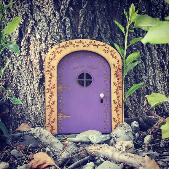 Items similar to fairy door fairy garden wooden fairy for Wooden fairy doors