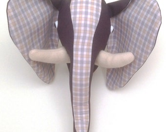 Faux Elephant Head Wall Hanging