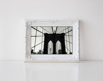 Brooklyn Bridge Postcard. Brooklyn Bridge Photography. New York City Postcard. New York City Photography. 4x6 Photo Postcard.