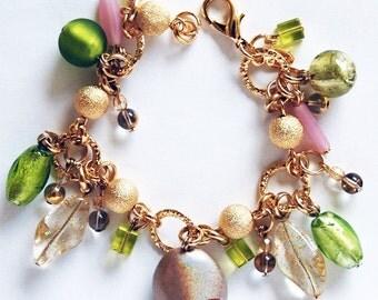 Enny Charm Bracelet made in Murano glass Handmade