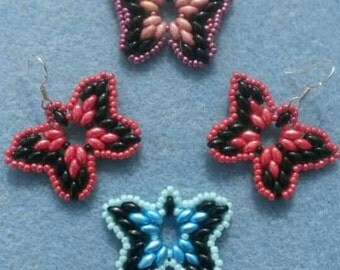 Superduo butterflies PDF tutorial pattern