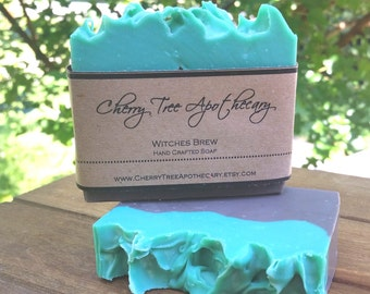 Witches Brew Handcrafted Soap - Halloween Soap - Vegan Soap - Cold Process Soap - Bar Soap - Fall Soap - Autumn Soap