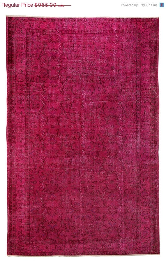 on sale 10x6 fuchsia overdyed rug beautiful by