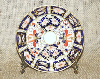 Royal Crown Derby 1917 antique Imari saucer side plate, pattern 2451, collector's item, gift idea