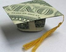 Money Origami GRADUATION CAP Real One Dollar Bill - photo#7