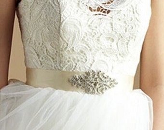Bridal Belt Bridal Sash Wedding Belt  Bridal Rhinestone Sash  Bridamade Dress Belt Handmade Bridal Free Shipping