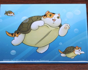 Turtle Cats Magnet