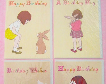 Birthday Cards by Belle & Boo set of 4