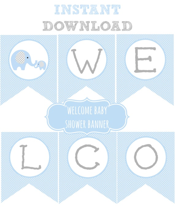 Geeky image with welcome baby banner free printable