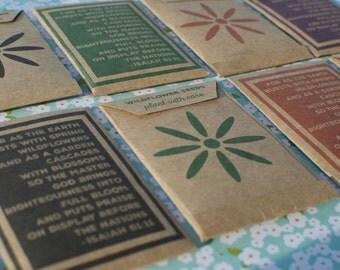 Handmade Scripture Wildflower Seed Packets - Isaiah 61:11
