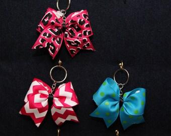 Ribbon Cheer Bow Keychain