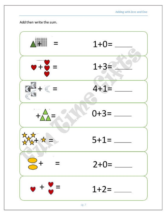 Pre School Worksheets : addition plus zero worksheets ~ Free ...