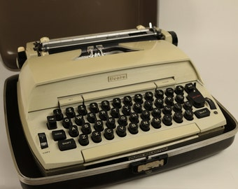 Vintage Sears Portable Electric Typewriter with Carry Case