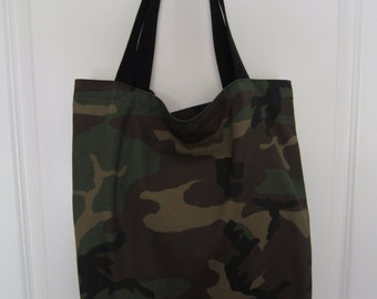 CAMOUFLAGE Shopping  Tote Bag  Poly/Cotton