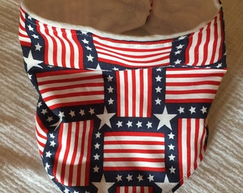 Stars and Stripes bandana bib
