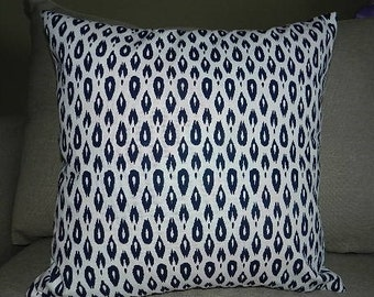 4 Sizes Available - Nate Berkus Indre Lynwood Navy/White Pillow Cover