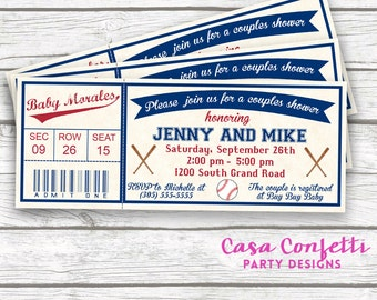 baseball baby shower invitations  etsy, Baby shower invitations