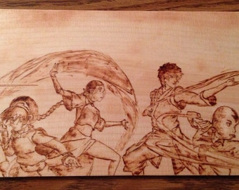 Avatar the Last Airbender Wood Burning