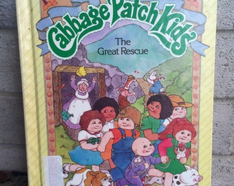 1980's CPK Book, The Great Rescue, Cabbage Patch Kids Book