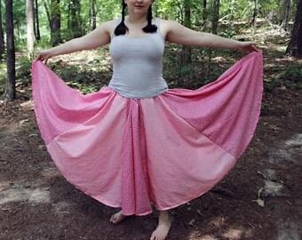 Pink Panel Skirt