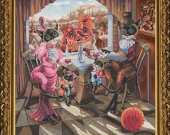 "Counted Cross Stitch Kit By Nova Sloboda ""Family Breakfast"""