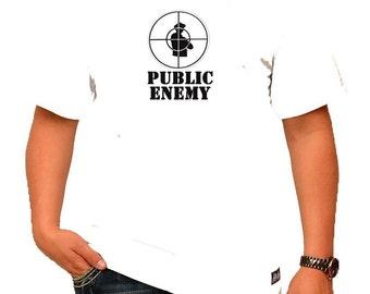 Public Enemy Mens White T-Shirt