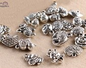 20pcs Kitsch Charms  Animals Talisman Wealth 3D Charms Tibetan silver jewelry accessories bracelet  necklace -BMS 041