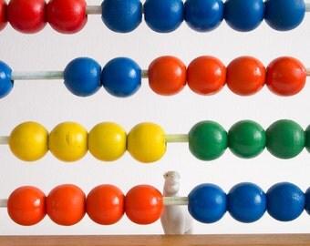 Vintage abacus toy