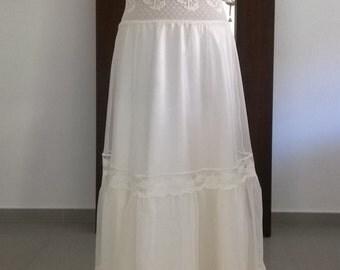 White/Ivory wedding lace dress