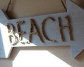 Distressed Beach Sign