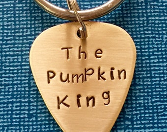 Halloween Keychain - The Pumpkin King - Halloween Gift - Custom Keychain - Personalized Gift - Custom Plectrum - Nightmare Before Christmas