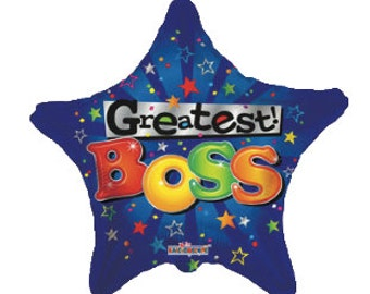 Happy Boss Day ! 18- inch Star Balloon