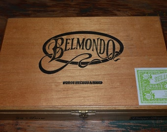 Vintage wood Cigar Box, Belmondo