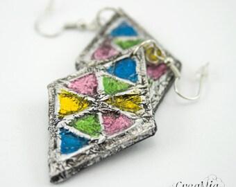 Earrings: Joyful Triangles