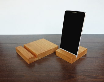 Wood iPad & iPhone Stand Set. Wood iPad stand. Wooden iPhone Stand. Cherry iPad Stand Set. iPad Docking Station.