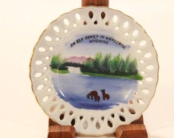 Mid Century Miniature Wyoming Display Plate