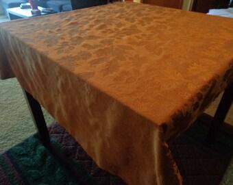 "Vintage Fall Reversable Oblong Tablecloth - 50"" x 66"""
