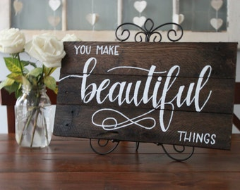 Beautiful Things Brown Plaque