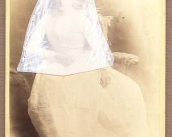 "collage, art collage, cabinet photo, art, ununsual art, surreal art  "" Bride.."""