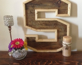 Rustic Wood Letters
